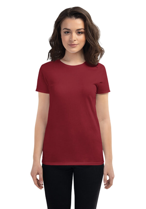 Custom Women's Fashion Fit T-Shirt Anvil 880 | Independence Red