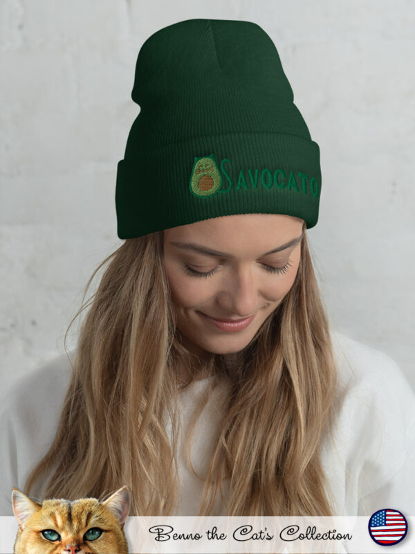 Avocato | Embroidered Beanie | Spruce