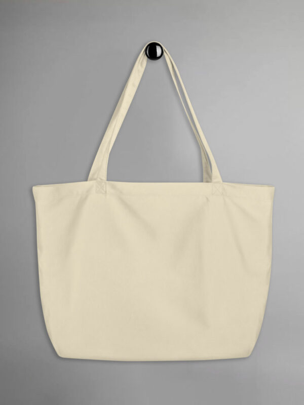 Custom Large Eco Tote Bag   Oyster