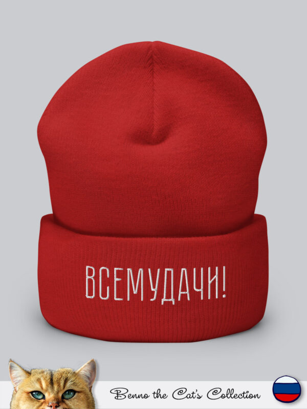 Всемудачи | Embroidered Beanie | Red