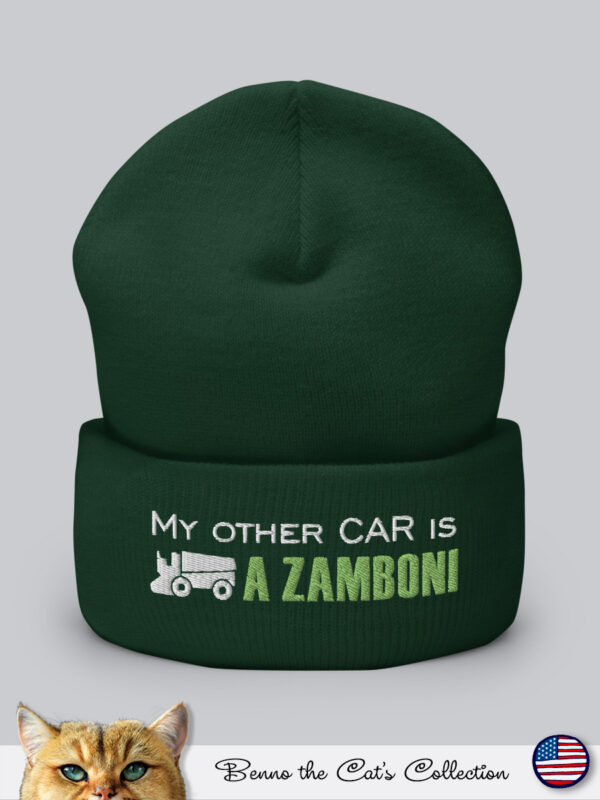 My other car is a ZAMBONI | Embroidered Beanie | Spruce
