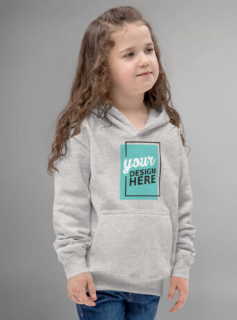 Custom Kids Hoodie | Heather Grey