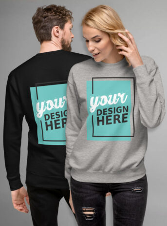 Custom Unisex Fleece Pullover Cotton Heritage