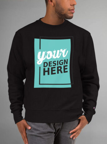 Custom Men's Champion Sweatshirt | Black