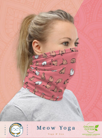 Yoga Cats | Meow Yoga Serie | Neck Gaiter | Pink