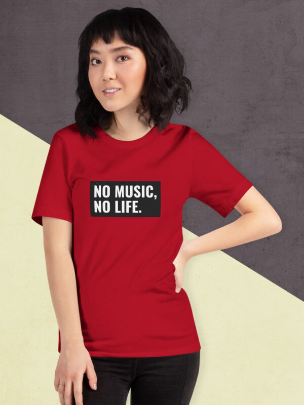 No Music. No Life | Unisex T-Shirt | Red