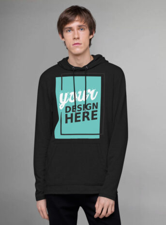 Custom Unisex Lightweight Hoodie District | Black