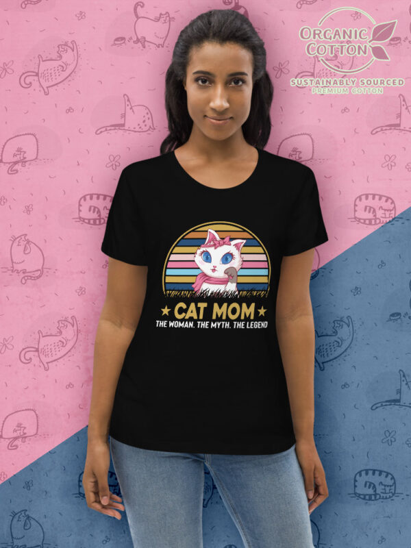Cat Mom | Women's Fitted Eco Tee