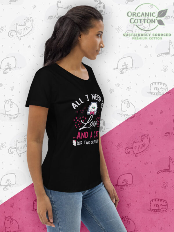 Love and Cat | Women's Fitted Eco Tee