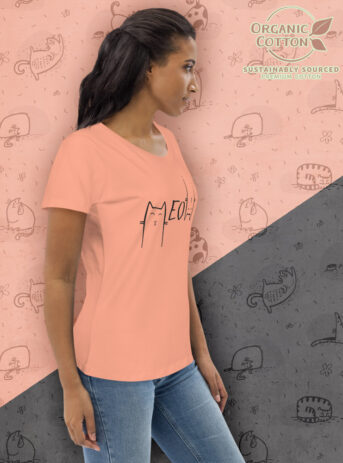 Meow | Women's Fitted Eco Tee